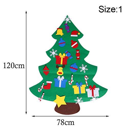 Juego infantil de manualidades con árbol de Navidad decorativo de fieltro para...