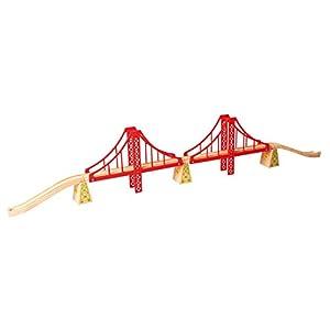 Bigjigs - Puente Doble Apoyo para modelismo (BIBJT136)