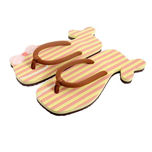 mhgao Mesdames Casual Home Chaussons Cute Cartoon Creative étui à rabat Flip Flops 1