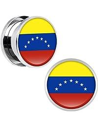 ded594541d Cuerpo de acero inoxidable de caramelo de la bandera de Venezuela par de  doble tornillo ajuste