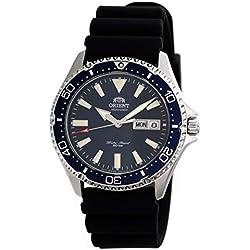 Orient RA-AA0006L Montre de plongée Automatique pour Homme avec Bracelet en Caoutchouc Cadran Bleu 200 m