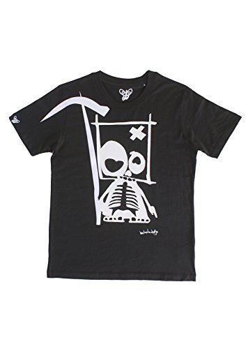 Bichobichejo Muerte, Camiseta para Hombre, Negro, Medium (Tamaño del