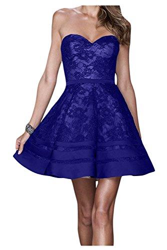 Toscana sposa lieb Ling a forma di cuore stanotte vestimento Kurz Satin damigella Cocktail Party vestimento punta. blu royal