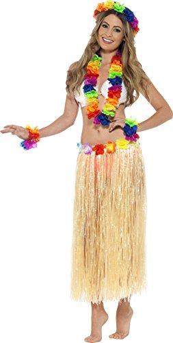 Smiffys-Kit-de-accesorios-de-Hawaiana-multicolor-44592