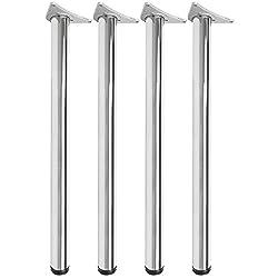 Hartleys 870-890mm Adjustable Table Legs - Chrome Finish - Set of 4