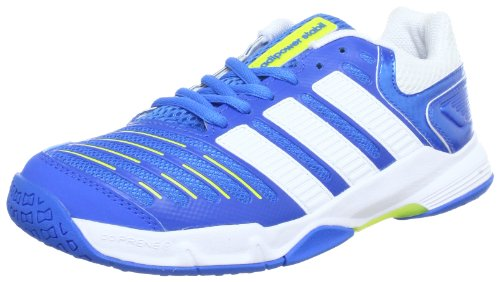 adidas adiPower Stabil xJ G60062 Unisex-Kinder Handballschuhe Blau (Bright Blue F12 / Running White / Lab Lime F12)