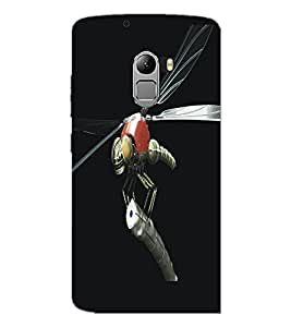 PrintDhaba Metaalic Fly D-5431 Back Case Cover for LENOVO VIBE X3 LITE (Multi-Coloured)