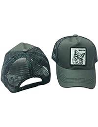 CADANIA Unisex Animal Bordado Parche Algodón Malla Gorra de béisbol  Camionero Sombrero Snapback Fox Gris 385e87bbc6f