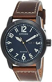 Citizen Men Blue Dial Leather Band Watch - BM8478-01L