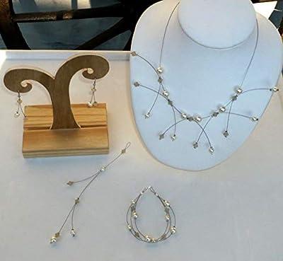Parure étincelle ivoire n°1 - Cristal de swarovski - Bijoux mariage - Parure mariée