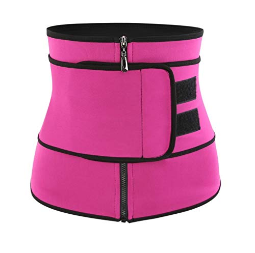 DLHYDSF S-3xl Taille Trainer Reißverschluss Haken Frauen Body Shaper Plus Größe Abnehmen Shapewear Gürtel Tummy Shaper XXXL XXL XL L Rot