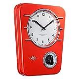 WESCO 322 401-02 Küchenuhr Classic Line rot