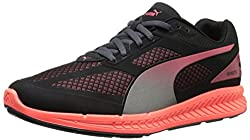 PUMA Women s Ignite Mesh Running Shoe Black/Cayenne 10 B(M) US