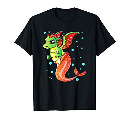 Drachen Mermaid Mermagon magische Ozean-Kreatur für Kinder T-Shirt