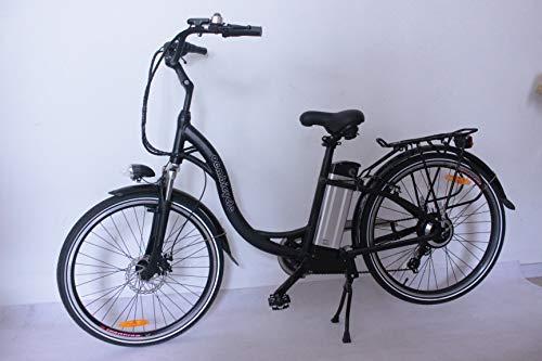 movable 250W 36V 10.4AH Bici elettrica 26\'x2.125 Bike Cruiser 6 velocità Shimano deragliatore Snow Beach eBike Bicicletta Sistema di Freno a Disco Meccanico (Nero)
