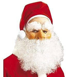 WIDMANN vd-wdm1515N Máscara Papá Noel Navidad, blanco, talla única