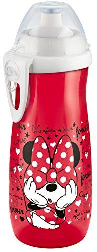 NUK 10255327 Disney Mickey Sports Cup Girl, Push-Pull-Tülle aus Silikon, BPA frei, ab 36 Monaten, 450 ml, rot