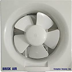 Crompton Brisk Air 200 mm Exhaust Fan - White, Online at low Price in India