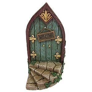 Pixie elf fairy door tree garden home decor fun for Amazon uk fairy doors
