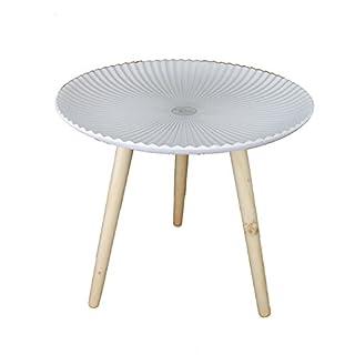 GMMH Table Basse Design rétro en Bois Blanc 48 cm