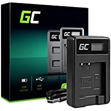 Green Cell® BC-CSN Caricabatterie per Sony NP-BN1 Batteria e Cyber-Shot DSC-QX10 DSC-QX30 DSC-QX100 DSC-TF1 DSC-TX10 DSC-TX20 DSC-TX30 DSC-W530 DSC-W570 DSC-W650 Fotocameras (2.5W 4.2V 0.6A Nero)