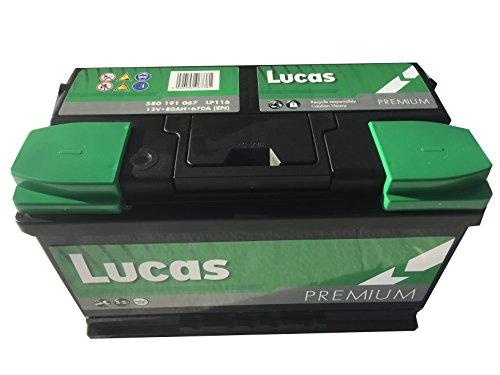 Lucas Batterie Voitures Premium LP116 L4G 12 V 80AH 670 AMPS (en)