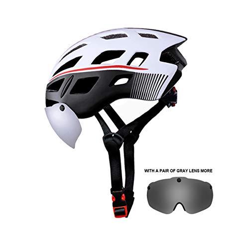 X-TIGER Casque Velo VTT Casque de vélo Unisexe avec visière de Protection aimantée Amovible et réglable