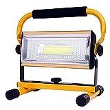 Projecteur portatif rechargeable de lumière de travail de 100W LED 2600 lumens 12000...
