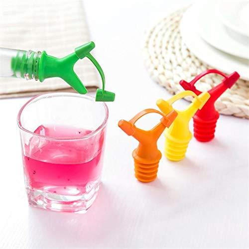 Xixini 3 Stück Flüssiger Düsenstopfen Wein Sojasauce Ölflasche Ausgießer (Zufällige Farblieferung)