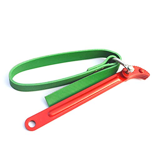 Filter Bandschlüssel, verstellbar 100mm Ölfilter Bandschlüssel/Filter Öffner Schlüssel für Öffnung Filter, Pfeife und Zinn