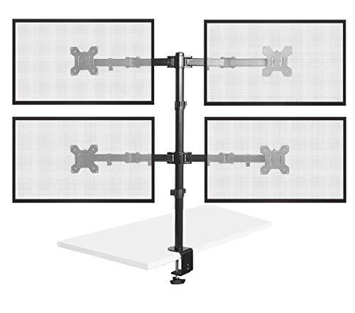 Bramley Power Dual Monitor Bildschirm Desk Mount Arm Doppel VESA Halterung für Twin 33cm zu 76,2cm Computer Display oder TV | Max neigbar, drehbar & schwenkbar Quad-monitor Desk