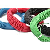 Electronicspices Combo of Red 10 m, Green 10 m, Blue 10 m and Black 10 m Electric wire , Model Building Tools for Working Mod
