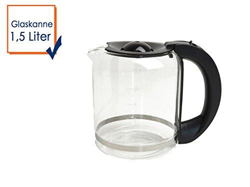 Domo Glaskanne, Universal-Ersatzkanne für gängige Kaffeemaschinen und DO417KT , 1,5L DO417KT-GK