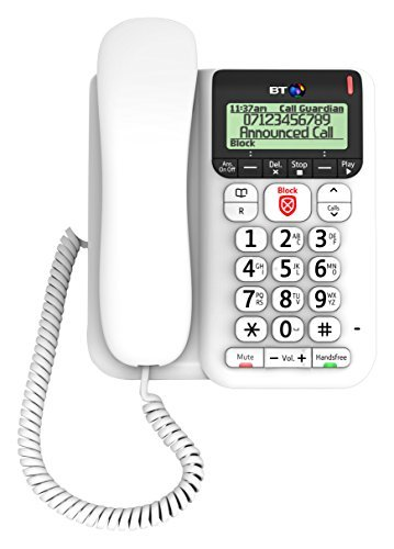 BT Decor 2600 Advanced Call Blocker Corded Telephone by BT