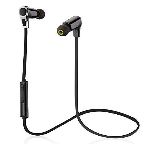 Mpow Sallow Auriculares In-ear Deportivos Inalámbricos Bluetooth 4.1 Estéreo Sonido Sólido y Claro Con Technología Apt-X y CVC 6.0 Cancelación de Ruido Soporta Llamadas Manos Libres - 7 horas de Tiempo de Conversación y de Música para iPhone 6/6s Samsung S5 Huawei Moviles