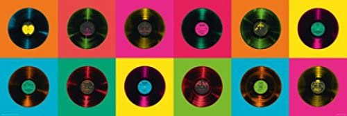 1art1 60479 Musique Poster de Porte Disques en Vinyle 158 x 53 cm