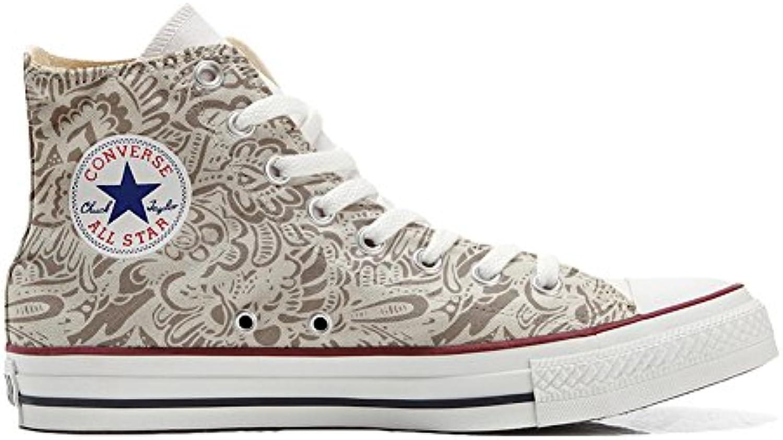 mys Converse All Star Hi Customized Personalisiert Schuhe Unisex (Gedruckte Schuhe) Damask Paisley