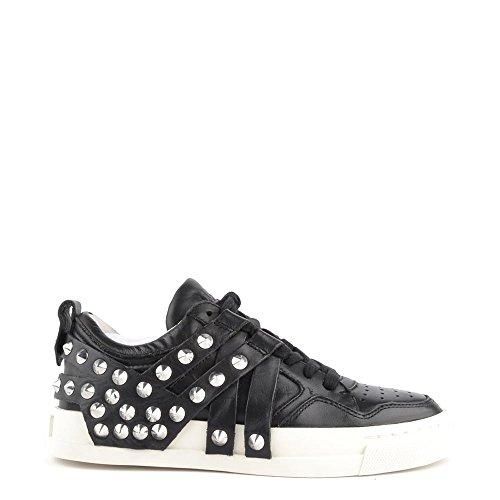 Ash Scarpe Extra Sneaker di Cuoio Nero Donna 39 EU Nero