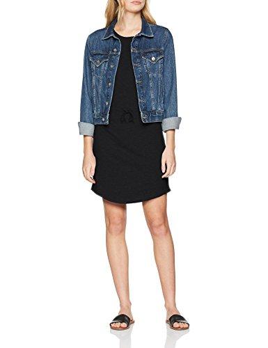 ONLY NOS Damen Kleid Onlmay S/S Dress Noos, Schwarz (Black), 34 (Herstellergröße: XS) (Gestreiften Kleid Shirt Blau)
