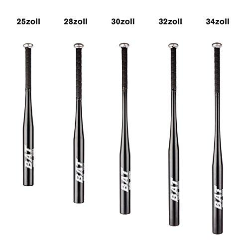 """Pre&Mium Aluminum Baseballschläger Baseball Bat mit Rutschfestem Griff Schwarz Verschiedene Größe(25""""/28""""/30""""/32""""/34'')"""