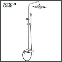 Exposed Thermostatic 2-way Bar Mixer Shower Set Chrome Valve 200mm Square Head + Handheld SP1012