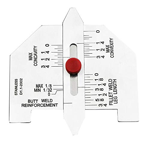 GNSDA Schweißvorschuss der Testregel Inch Laser Scale Measuring Rule Stainless Steel Test Rule Weld...