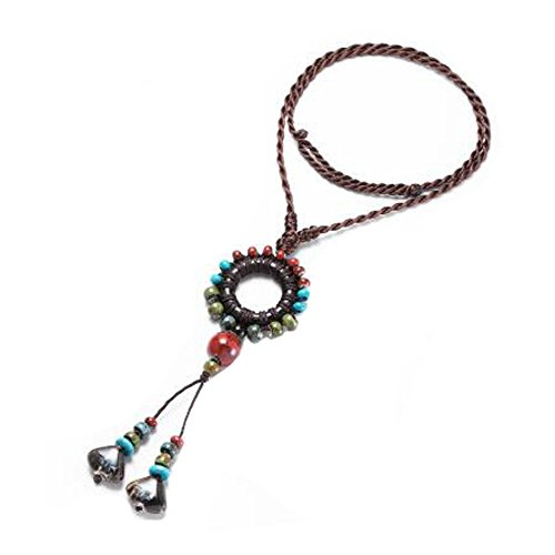 Folk-custom Stil lange Halskette Kostüm Schmuck Halskette für Mädchen, ()