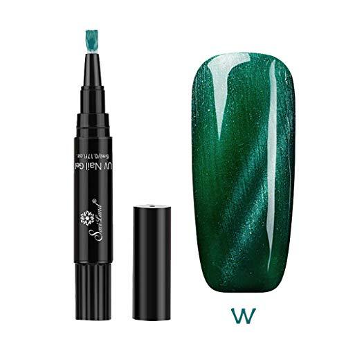Beisoug Sexy Beste Geschenk für Frauen 1 Stück 3 In 1 Schritt Nagel Gel Malerei Lack Stift Ein Schritt Nagel Verwenden UV Gel Perfekt für ()
