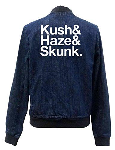 Kush & Haze & Skunk Jeans Bomberjacke Certified Freak-XXL