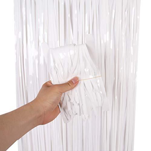 nge Vorhänge Quaste Tisch Rock Hintergrund Vorhang für Party Foto Requisiten für Dekoration (Weiß) ()
