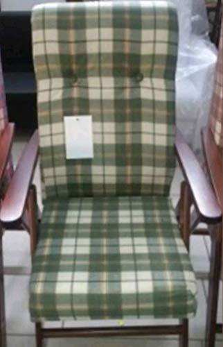 Poltrona sedia sdraio molisana (colore verde) legno regolabile 4 posizioni soggiorno cucina salone