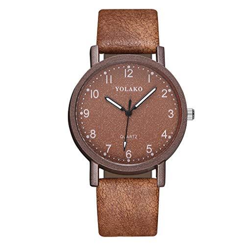 iness Uhren Mode Einfache Leder Dial Gürtel Stahl Armbanduhren Minimalism Quarzuhren ()