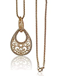 Fashion Sarani Latest Design Hot& Trendy Party Western Wear Long Chain With Pendant Necklace Fashion Jewelry For...