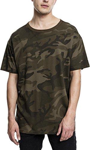 Urban Classics Oversized tee, Camiseta para Hombre, (Olive Camo 775), M